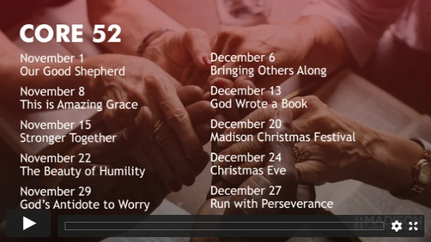 Core 52 Sermon Series